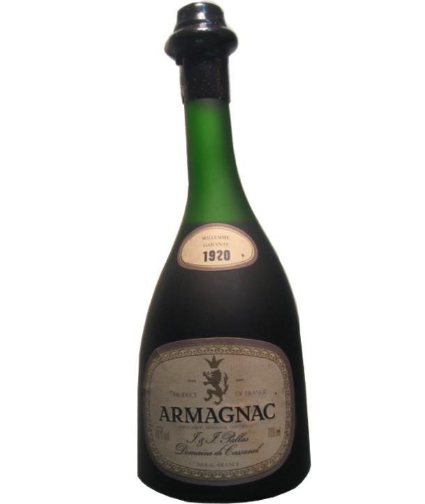 Armagnac Pallas Domaine de Cassanel 40° 1920